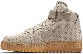 """Кроссовки мужские Найк Nike Air Force Hi Grey """"Suede Spring"""""""
