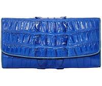 Кошелёк из кожи крокодила (PCM 03 BT Ocean Blue), фото 1