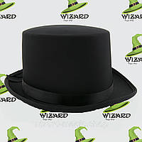 Шляпа Цилиндр атласный Черный