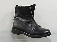 Стильные молодежные кожаные демисезонные ботинки, фото 1