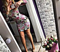 Женское платье Тюльпан 42-46р ангора