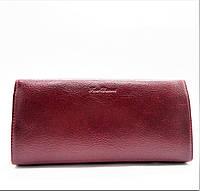 Удобный женский кошелек из искусственной кожи бордового цвета BRM-029971, фото 1