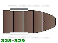 Пайол фанерный с стрингерами КМ-330DSL (настил, стрингера, сумка), коричневый.