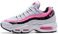 Кроссовки женские Найк Nike Wmns Air Max 95 Essential Pink/White/Black, фото 1