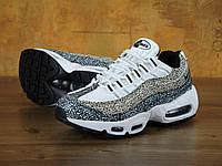 Кроссовки женские Найк Nike Air Max 95 Premium Safari Pack White/Black, фото 1
