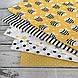 Хлопковая ткань польская пчелки черно-белые на желтом №126, фото 2