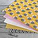 Хлопковая ткань польская пчелки черно-белые на желтом №126, фото 3