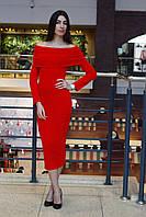 Красивое женское приталенное платье резинка с хомутом