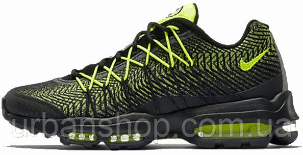 Кроссовки мужские Найк Nike Air Max 95 Ultra Jacquard Green/Black