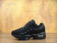 Кросівки чоловічіНайк Nike Air Max 95 All Black, фото 1