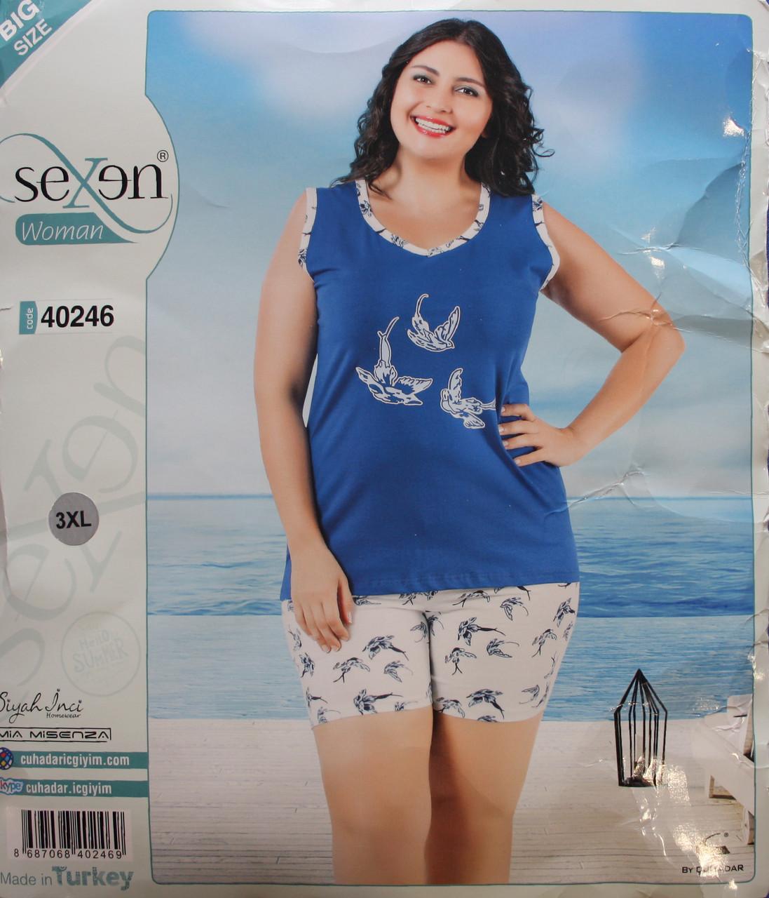 Пижама летняя женская - майка + шорты SEXEN 40246