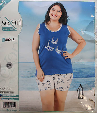 Пижама летняя женская - майка + шорты SEXEN 40246 , фото 2