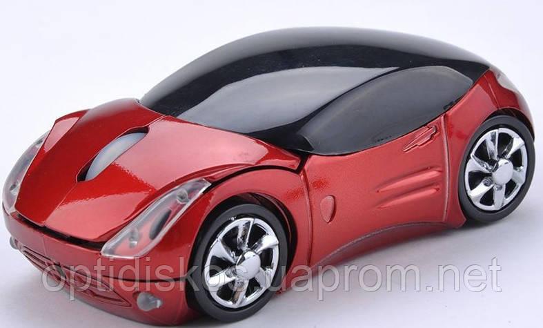 Беспроводная мышка Машинка, красная