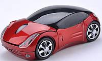 Беспроводная мышка Машинка, красная, фото 1