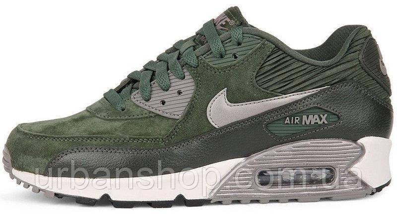 Кроссовки женские Найк Nike Air Max 90 LTHR Carbon Green