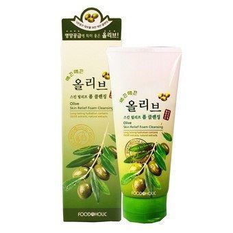 Пенка с экстрактом оливы для эластичности кожи Food A Holic Olive Skin Relief Foam Cleansing