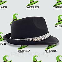 Шляпа Твист атласная  Черный