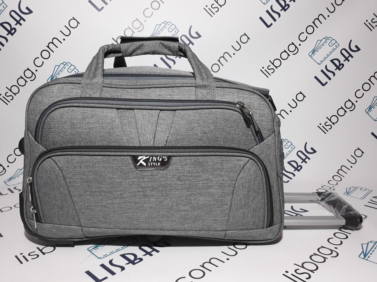 3d15258417c7 Большая сумка на колесах L (80 л) Серая (64*39*32) Чемодан дорожная ...