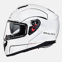 MT Atom SV Solid Gloss Pearl White, XS, Мотошлем модуляр