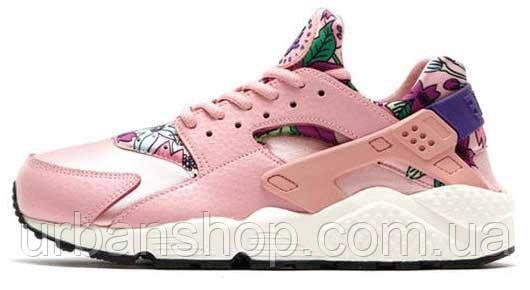 Кроссовки женские Найк  Nike WMNS Air Huarache Run Print Pink
