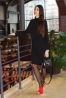 Приталенное женское платье гольф рубчик длина миди