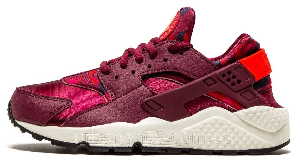 Кроссовки женские Найк Nike Huarache Run Print Garnet Crimson