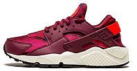 Кроссовки женские Найк Nike Huarache Run Print Garnet Crimson, фото 1