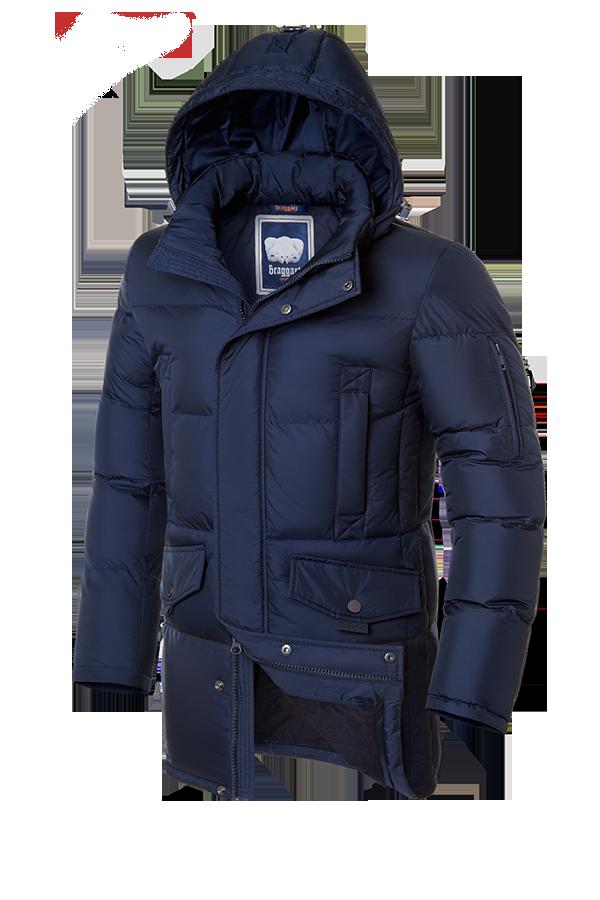 Мужская синяя зимняя куртка на меху Braggart (р. 46-56) арт. 3205 темный-синий