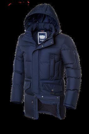 Мужская синяя зимняя куртка на меху Braggart (р. 46-56) арт. 3205 темный-синий, фото 2