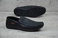 Мужские кожаные мокасины Braxton 12336 черный