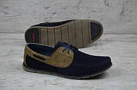 Мужские замшевые мокасины Tommy Hilfiger 12335 синий, фото 1