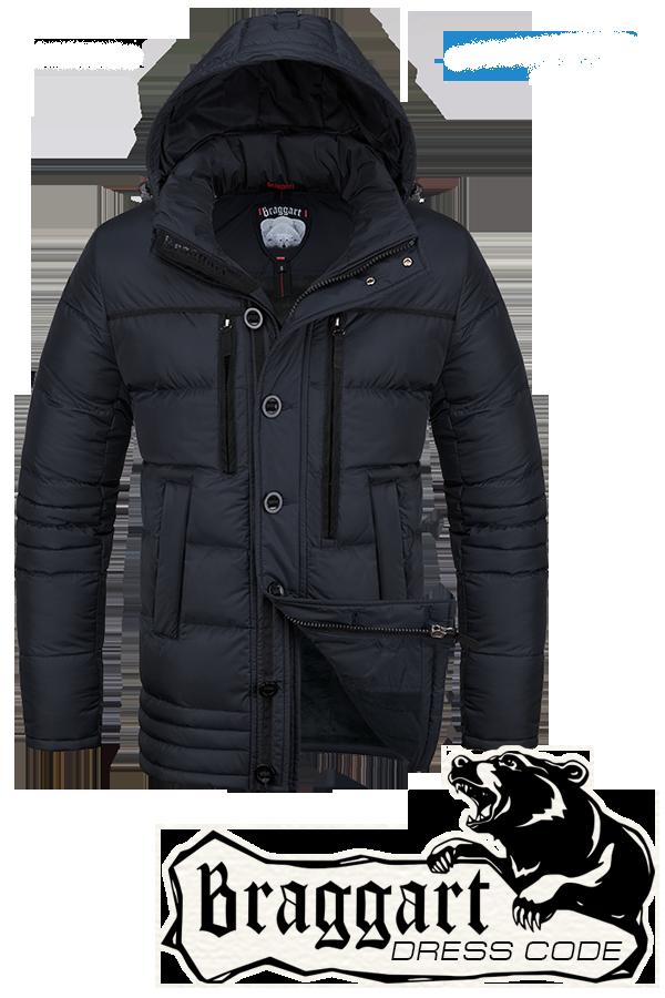 Мужская зимняя черная парка Braggart Dress Code арт. 4719