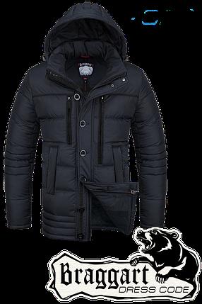Мужская зимняя черная парка Braggart Dress Code арт. 4719, фото 2