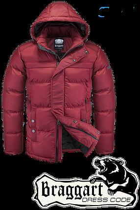 Мужская красная зимняя куртка Braggart арт. 4245, фото 2