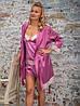 Малинового цвета летняя женская пижама