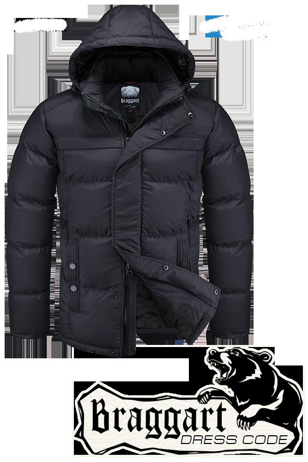 Мужская черная зимняя куртка Braggart арт. 4245