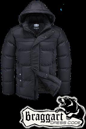 Мужская черная зимняя куртка Braggart арт. 4245, фото 2