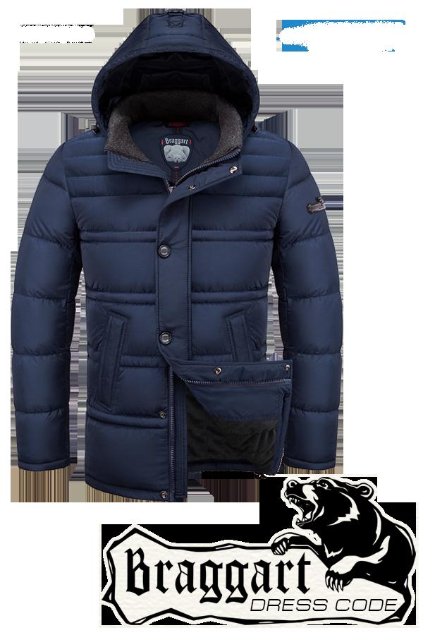Мужская синяя зимняя куртка-парка Braggart (р.46-54) арт. 2748 синий