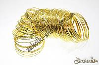 Бижутерия оптом и в розницу, Браслеты недельки, метал, золото, 100 шт.
