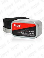 Черная губка для обуви KAPS Black Perfect Shine
