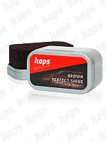 Коричневая губка для обувиKAPS Brown Perfect Shine