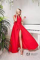 Вечернее платье на запах в пол