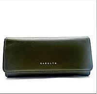 Женский кошелек из искусственной кожи SАRАLYN оливкового цвета ОPО-029079, фото 1