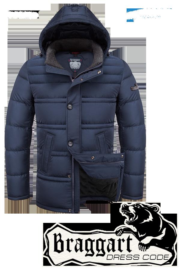 Мужская зимняя куртка-парка Braggart (р.46-54) арт. 2748 светло-синий
