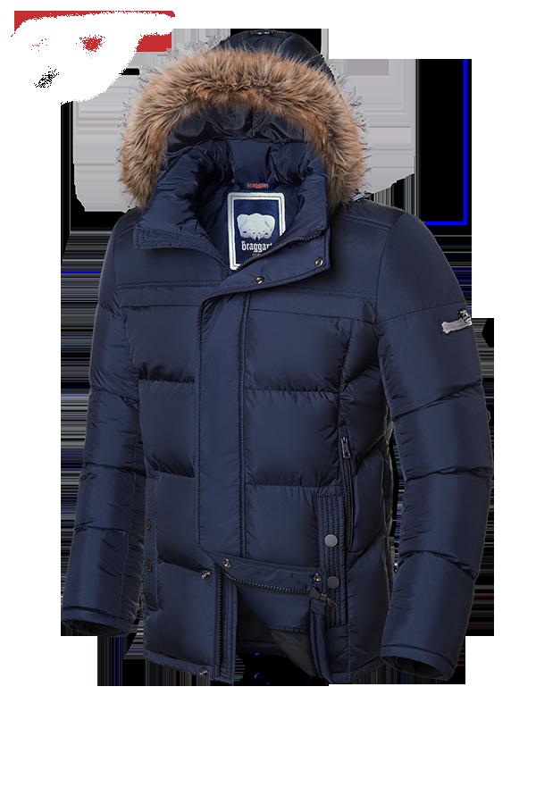 Мужская темно-синяя зимняя куртка на меху Braggart Dress Code арт. 1445