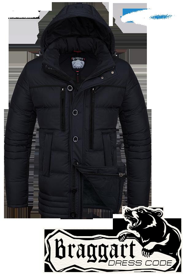 Мужская зимняя черная куртка Braggart Dress Code арт. 4719