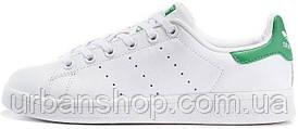 Жіночі кросівки AD Stan Smith White/Green, А-д . ТОП Репліка ААА класу.