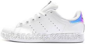 Жіночі кросівки AD Stan Smith White Metallic Silver-Sld, А-д . ТОП Репліка ААА класу.