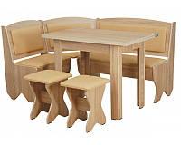 Кухонный уголок Император с простым столом, с раскладным столом и двумя табуретами, без стола и табуретов