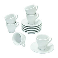 Кофейный набор на 6 белых чашек ХОРЕКА Белый Эспрессо